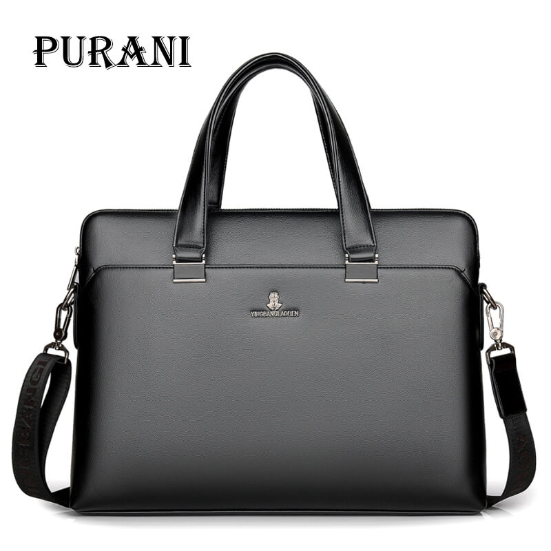 PURANI Luxury Brand Genuine Leather Men Tote Bag Fashion Mens Business Laptop Bags Real Leather Messenger Bag for Men BriefcasePURANI Luxury Brand Genuine Leather Men Tote Bag Fashion Mens Business Laptop Bags Real Leather Messenger Bag for Men Briefcase