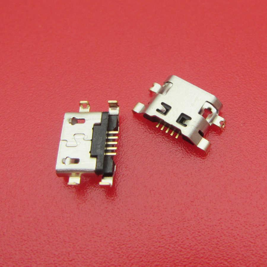 30-500 Pcs Mini Micro USB Konektor De Carga untuk Alcatel Pop 3 OT 5015 5015X 5015D POP3 Dock pengisian Port Soket Plug Dock
