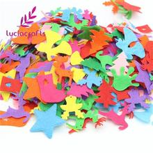 Kindergarten-Decor Applique Crafts Wall-Sticker Felt No 100pcs/Lot Patch Non-Woven Random-Mixed