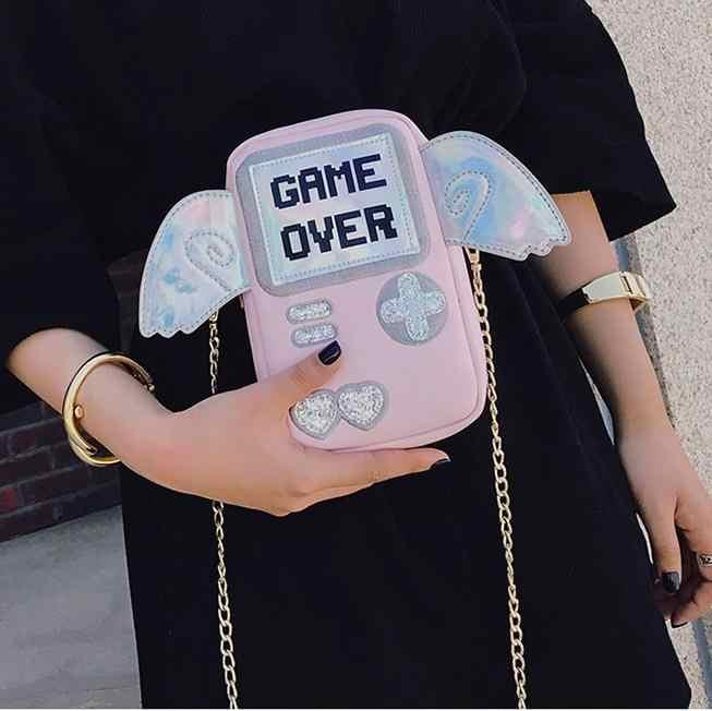 Новый милый модный персональный мини-клатч с изображением крыльев и букв, дамская сумка на плечо на цепочке, сумка-мессенджер