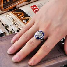 Vintage Vampire Diaries Rings Anillos Salvatore Damon Reborn Ring Aneis Stefan finger Family Crest RING Ornaments Sets #ZA(China)