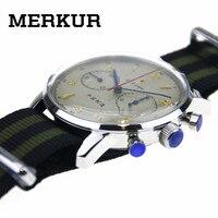 Seagull мужской хронограф наручные часы большой пилот намотки переделки 304 1963 42 мм выставочный чехол Назад платье