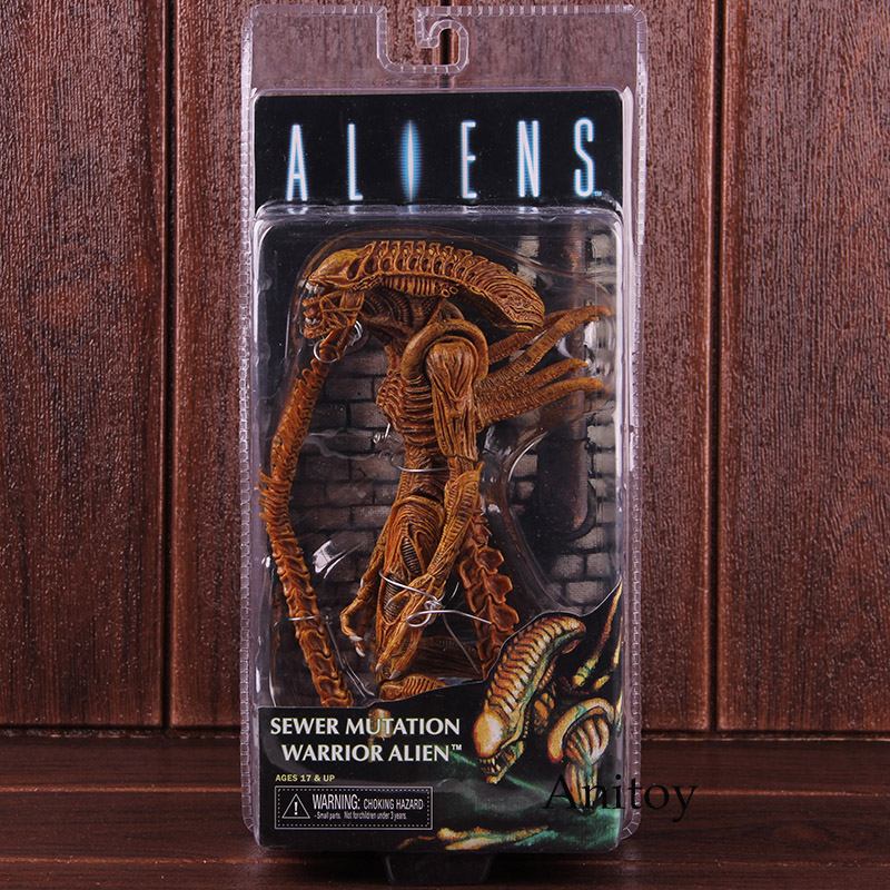 Action Figures NECA Aliens Sewer Mutation Warrior Alien Doll PVC Collectible Model ToyAction Figures NECA Aliens Sewer Mutation Warrior Alien Doll PVC Collectible Model Toy