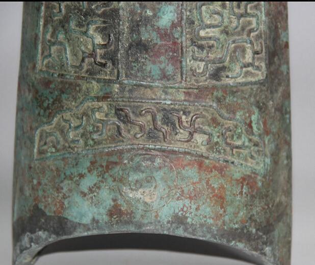 JP S62 12 Архаического Династия Китайский Дворец Бронзовый плоским Храм храм висит Колокол Чжун - 3