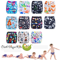 Superdry Baby Cloth Diapers Couche Lavable One Size Fits All for NB to 13kgs babies (with 1PCS Bamboo Insert)