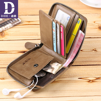 DIDE Top Quality Genuine Leather Men Wallets For Men Male Purse Luxury Original Brand Coin Purse