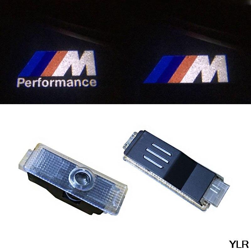 2pcs LED Door Warning Light With Logo Projector For BMW E60 E90 F10 F30 F15 E63 E64 E65 E86 E89 E85 E91 E92 E93 F02 M5 E61 F01 M