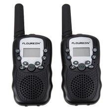 FLOUREON 1 пара 8 каналов рации UHF400-470MHz ЖК-дисплей любительский двухстороннее радио черный мини-детский радио Retevis