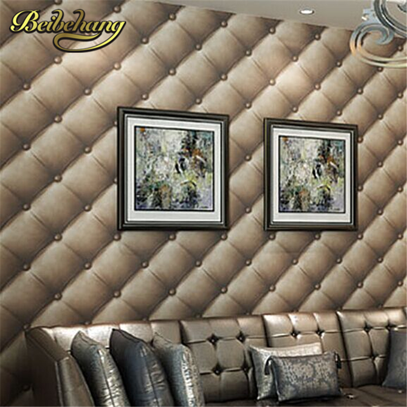 Beibehang Uxurious Faux Leather Soft Bag 3d Wall Paper