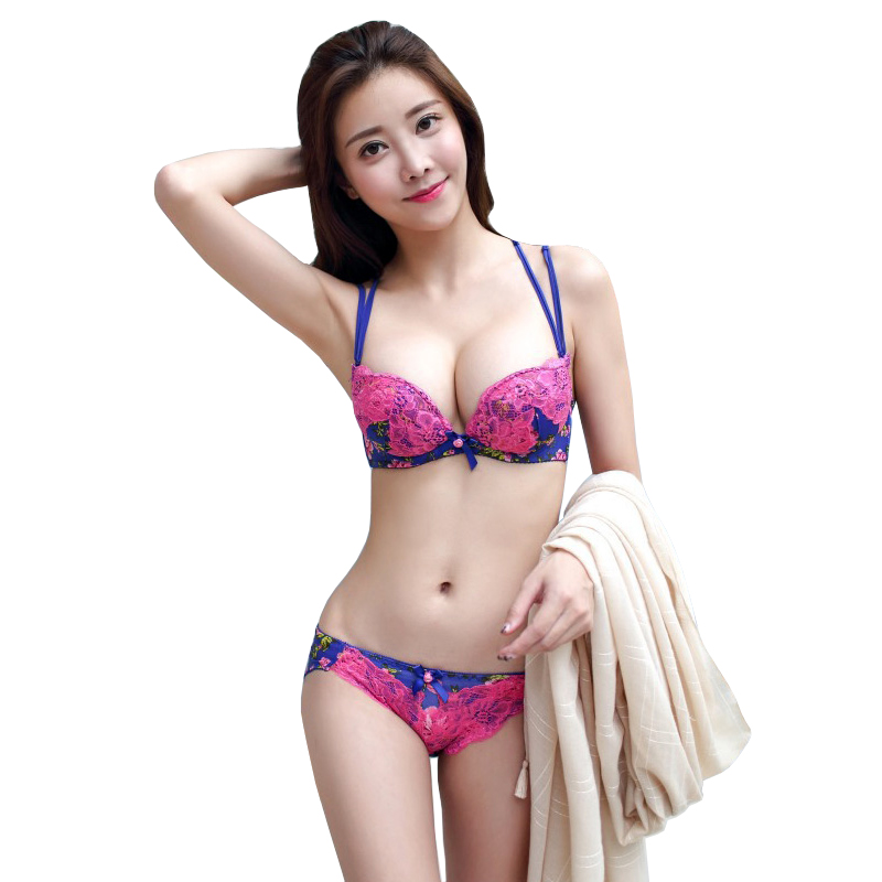 2017 New Japanese Sexy Embroidery Lace Floral Cute Push Up -1220