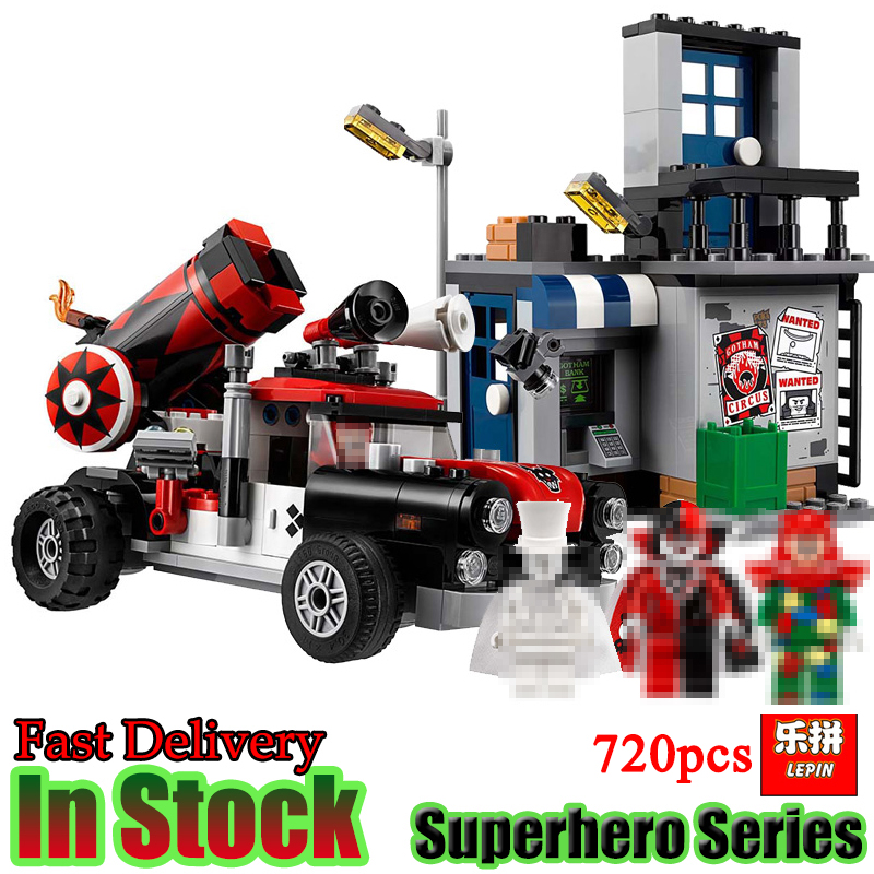 LEPIN 07097 DC Batman Harley Quinn Cannonball Attack Truck 70921 Super Heroes Figures Model Building Blocks Bricks Toys For Boys ...