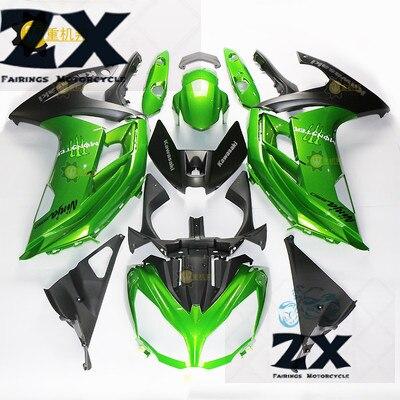 Полный обтекатели для Kawasaki ER 6F 2012 2013 2014 2015 ER6F ниндзя 650r 12 15 мотоцикл обтекатель комплект Gloss зеленый УФ