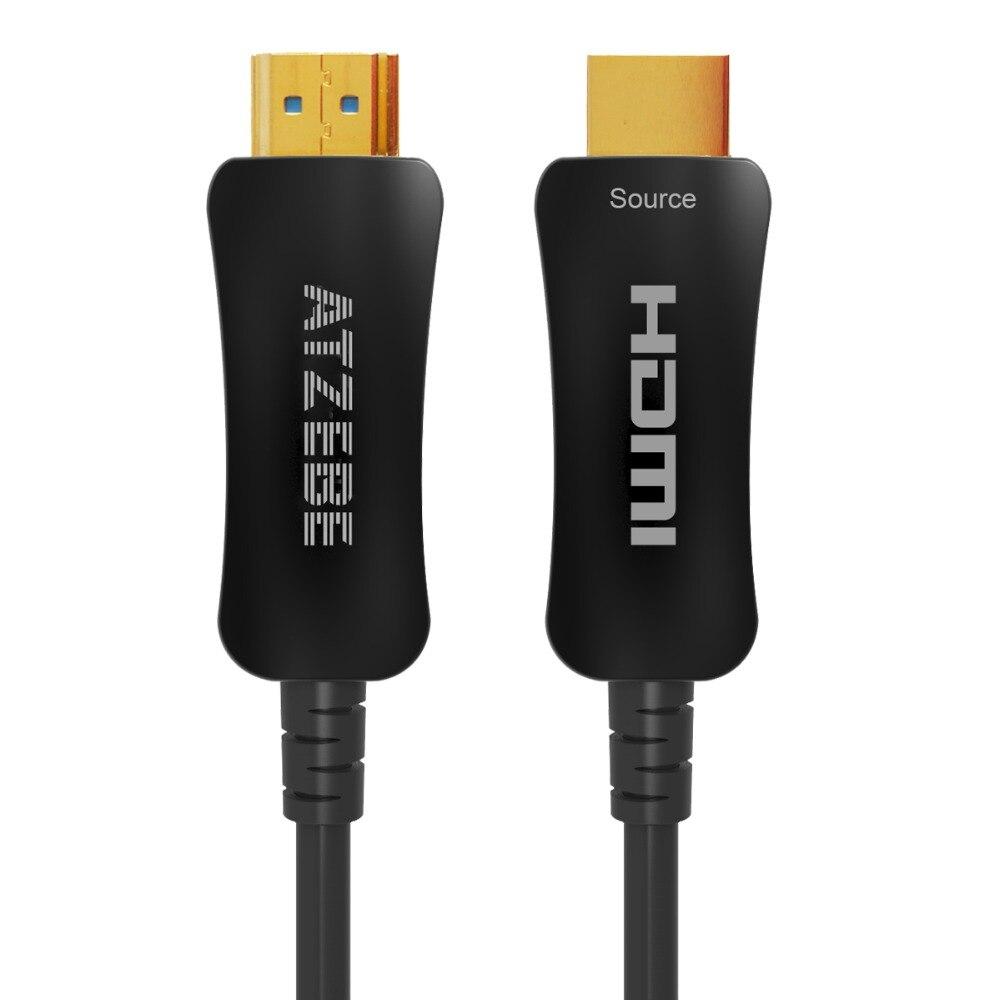 4 k 60 hz HDMI Câble Fiber Optique HDMI Câble 2.0 2.0a HDR pour HD TV Boîte Projecteur PS4 Câble HDMI 2 m 3 m 5 m 10 m 15 m 30 m 50 m-200 m