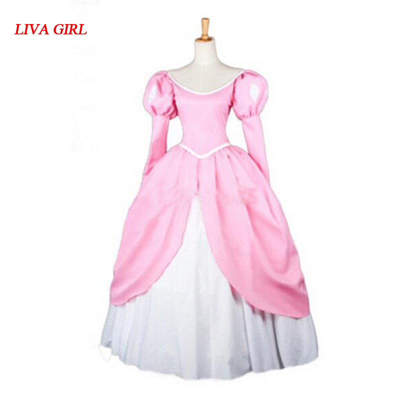 2017 New Arrival The Little Mermaid Adult Ariel Cosplay Costume Princess Ariel Dress For Party 2017 the little mermaid ariel skirt princess ariel costume dress for adult cosplay costume tailor made