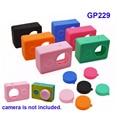 Frete Grátis!! Acessórios XiaoYi Dust-proof Silicone case + Lens cap para XiaoYi Câmera de Ação de Esportes