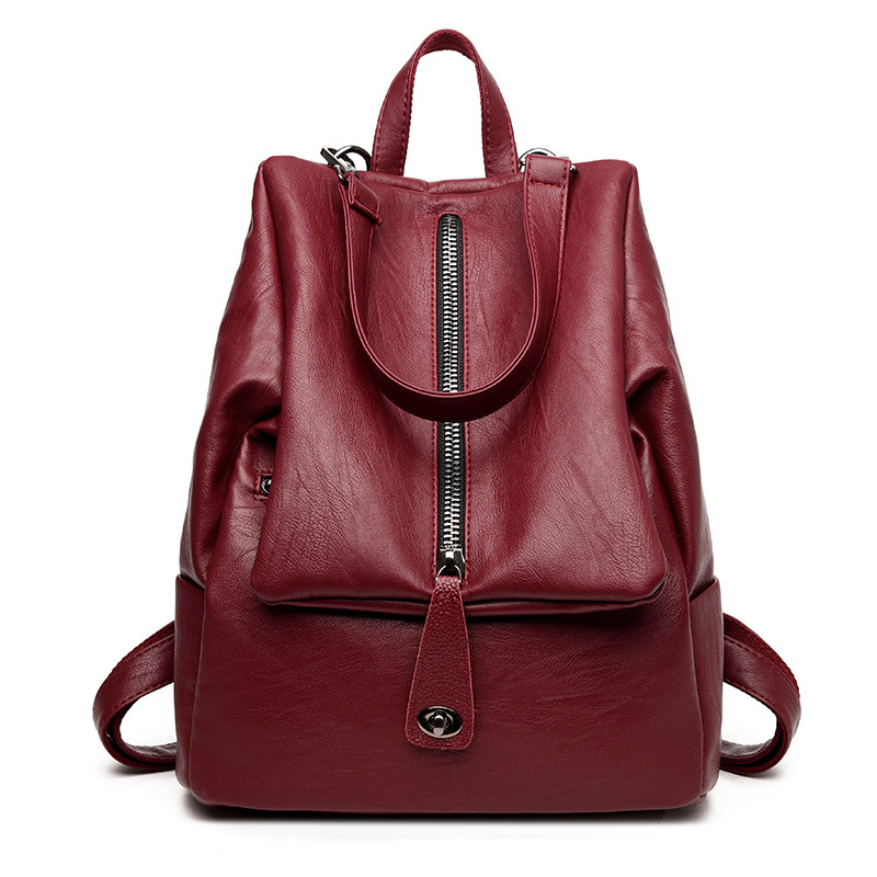 Women Backpacks Women's Leather Backpacks Female Shoulder Bag School Bags for Teenagers Girls Mochila Travel Top-handle BackPack