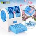 Podwójny Port perfum bezlistny wentylator przenośny wiatrak biurowy osobiste Usb baterii podwójnego zastosowania wentylatora chłodnica odżywki do biuro w domu