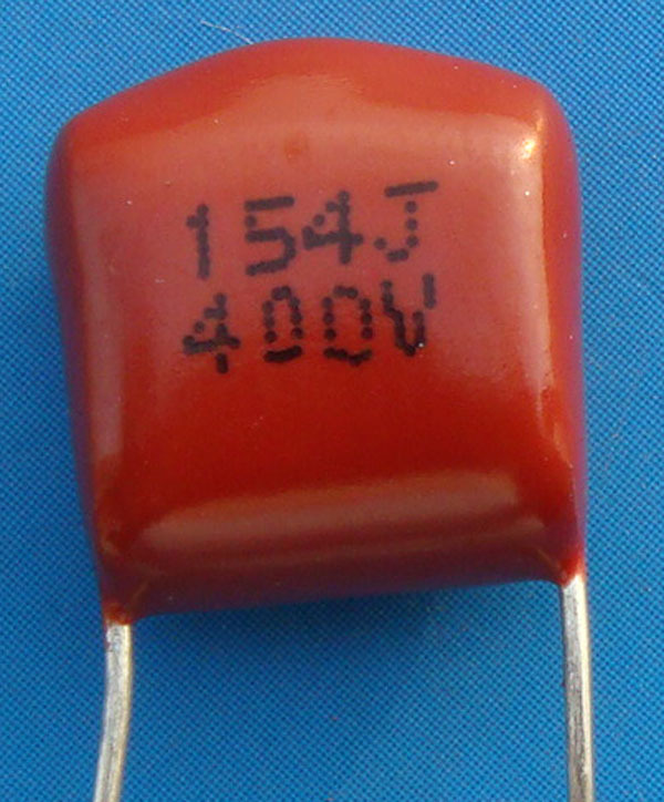 Free Delivery. CBB Metallized Polypropylene Film Capacitor Is 400 V 154 0.15 UF