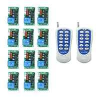 RF Wireless Fernbedienung AC 220 V 10 Eine 1 kanal 12 * Empfänger + 1-2 * Sender lernen code Garage Türen 433 mhz