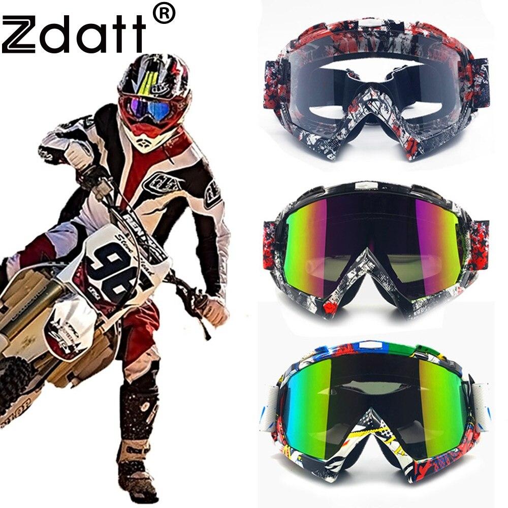 Zdatt Professional Adult Motocross Goggles Dirt Bike ATV Motorcycle Goggles Moto Goggle Ski Glasses Gafas UV Protection Ski Fox