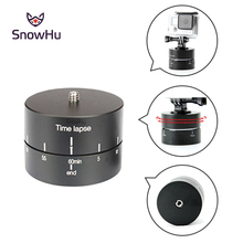 SnowHu for GoPro Accessories 60min Panning Rotating Time Lapse Stabilizer 360 Degrees For Gopro Hero 7 6 5 4 Xiaomi  GP247A
