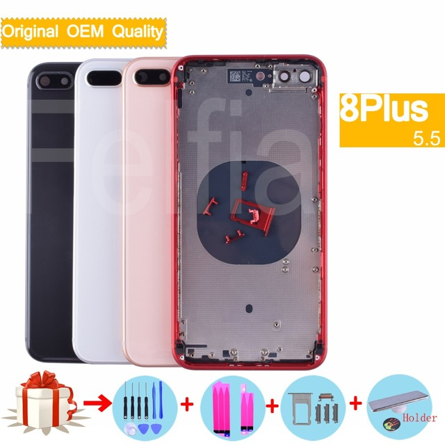 new arrival 8422b d6b56 US $80.75 5% OFF|New Rear Body For Apple Iphone 8 Plus Back Housing Cover  Original Glass OEM Quality For iphone 8 Plus coque Chassis Middle Frame-in  ...