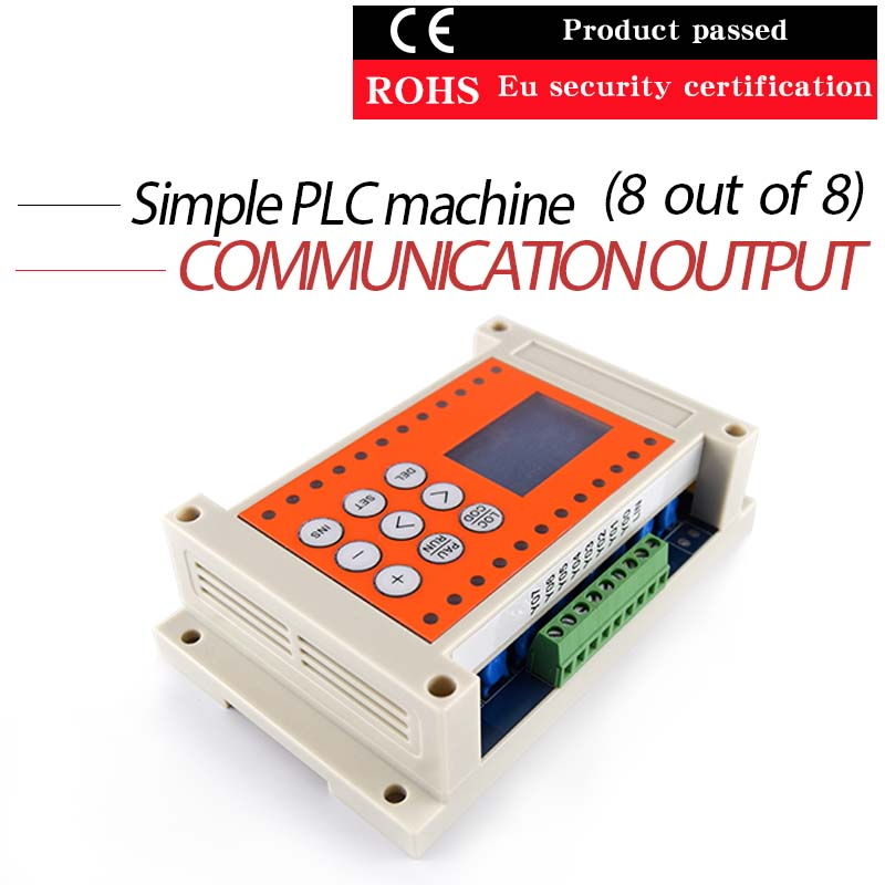 Programmable simple PLC8 into 8 out of one time relay 0 01 999 second 8 terminals digital timer programmable time relay