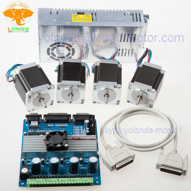Stepper Motor 4Axis Nema 23 23HS8610 1A 287oz in 4 Axis Driver Board on tb6560 schematic, sata connector wiring diagram, cnc wiring diagram, db25 breakout board wiring diagram,