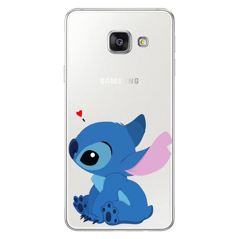 Funny Stitch Case For Coque Samsung Galaxy Grand Prime S6 S7 Edge S8 S9 Plus Note 2 3 4 5 8 9 Back Cover Fundas Coque