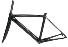 high stiffness and sale price Full Carbon Matt Road Bike 700C Bicycle Cycling Frame 50/53/55cm available