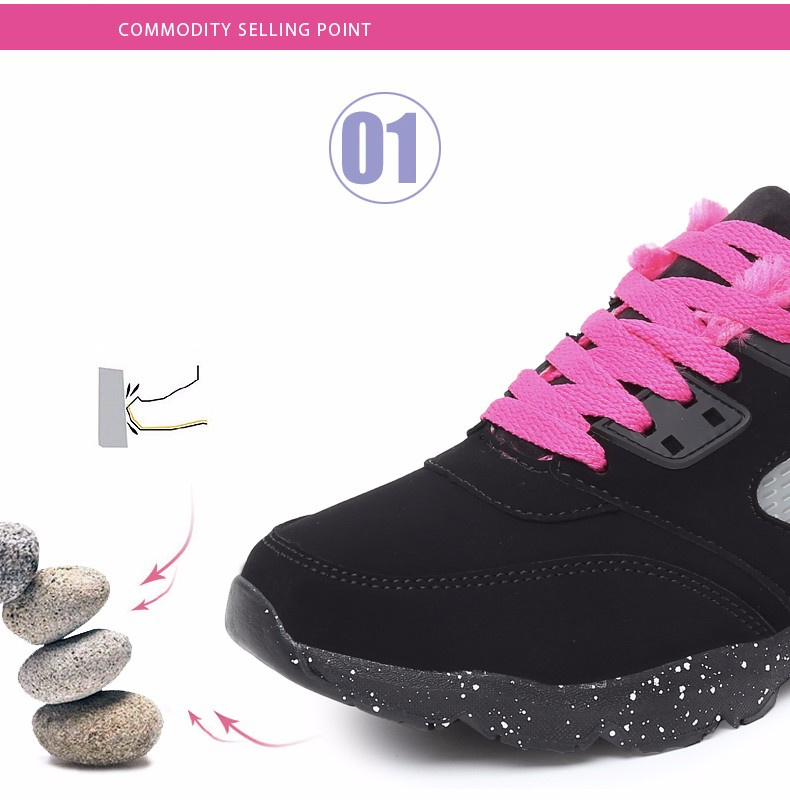 2017 Fashion Winter Women Casual Shoes Plush Warm Sport Low Top Women Shoes Black Pink Breathable Lace Up Woman Trainers YD165 (6)