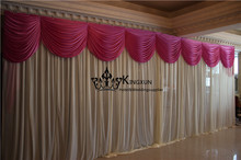 Ivory And Fuchsia Color Wedding Backdrop Drape Factory Price Free Shipping