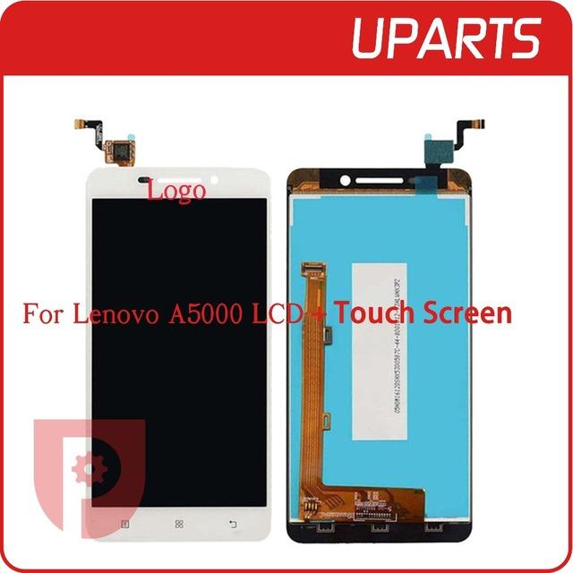Qualidade superior para lenovo a5000 display lcd com tela de toque digitador assembléia branco preto completo + n ° de rastreamento