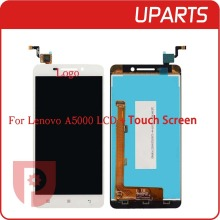 Top quality For Lenovo A5000 Lcd Display With Touch Screen Digitizer Assembly Complete Black White+Tracking No