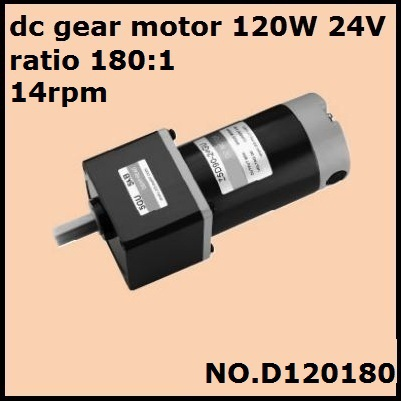 DHL fast delivery!  NO.D120180 dc gear motor 120W 24V ratio 180:1 14rpm