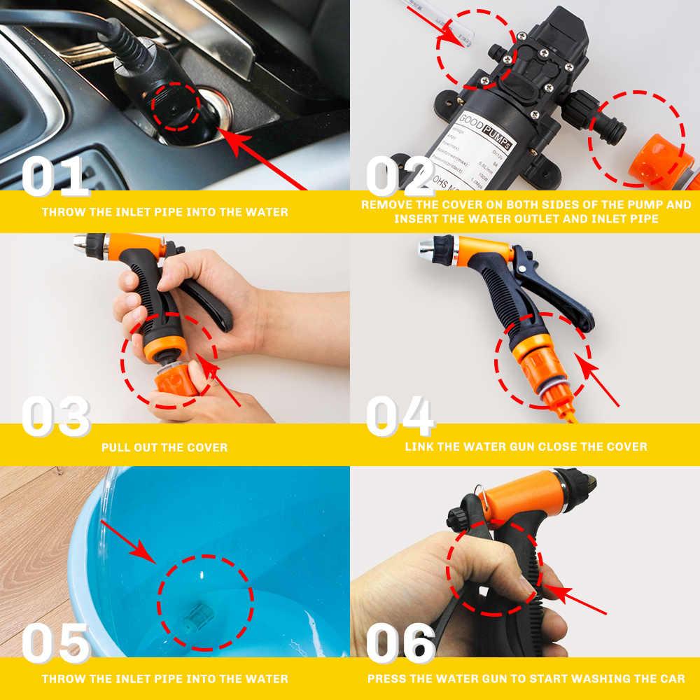 12 В автомойка пистолет насос Самовсасывающий высокого давления авто Электрический открытый портативный стиральная машина чистящее устройство для автомойки