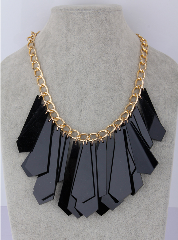 High quantity blade exaggerated necklace female short design fashion accessories decoration big necklace acrylic