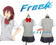 Free! – Iwatobi Swim Club Gou Matsuoka School Summer Uniform Sweater White Shirt Skirts For Women Party Anime Cosplay Costume