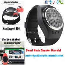 Smart Bluetooth Lautsprecher Armband Schrittzähler Kalorien Schlaf-monitor TF Karte Antwort Anruf Telefon Armband Smartwatch für Android IOS