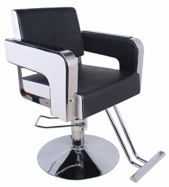 Motivations Fashion Salon Chair Salon Haircut Barber Stool Rotating Chair Lift 962 Stainless Steel Handrails