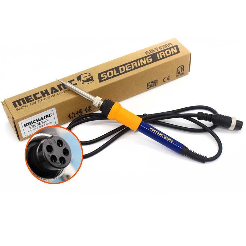 MECHANIC 908 Series 45W/60W Antistatic Electric Soldering Iron Handle For 936/908/937/8586 Soldering Station Repair Tool