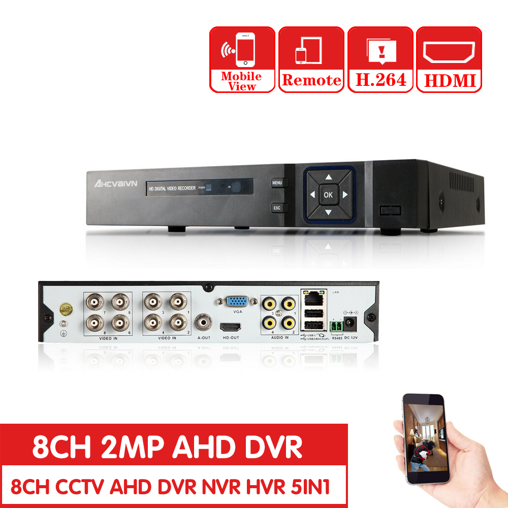 AHD 8CH 1080P DVR System ONVIF mini NVR 8CH 5 in 1 TVI CVI AHD IP HDMI H.264 P2P Cloud network CCTV 8CH AHD DVR gadinan 8ch ahdnh 1080n dvr analog ip ahd tvi cvi 5 in 1 dvr 4ch analog 1080p support 8 channel ahd 1080n 4ch 1080p playback