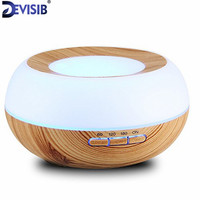 FEA 300ml Aroma Essential Oil Ultrasonic Humidifier Aromatherapy Diffuser Wood Grain Cool Mist Humidifier For Office