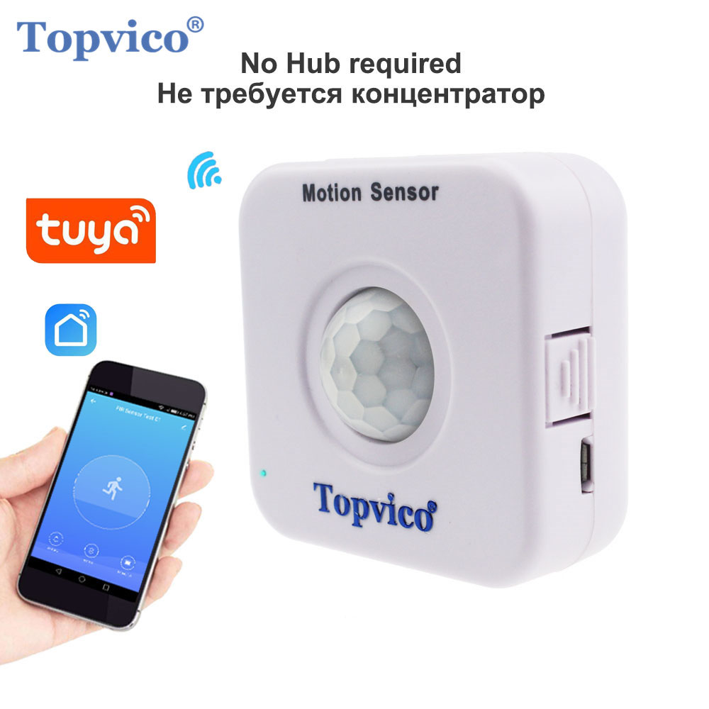 Topvico WIFI Motion Sensor Mini PIR Motion Detector WIFI Movement Sensor Alarm Tuya Smart Life APP Wireless Home Security System