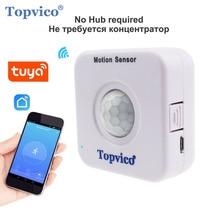 Topvico WIFI czujnik ruchu Mini detektor PIR Alarm z czujnikiem ruchu Tuya Smart Life APP bezprzewodowy System bezpieczeństwa w domu