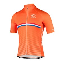 7389dcc9a 2018 NETHERLANDS NATIONAL SHORT ONLY SLEEVE CYCLING JERSEY SUMMER CYCLING  WEAR ROPA CICLISMO WITH POWER BAND