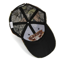 "Embroidered ""Texas"" and Bull Horns Camo Baseball Cap"