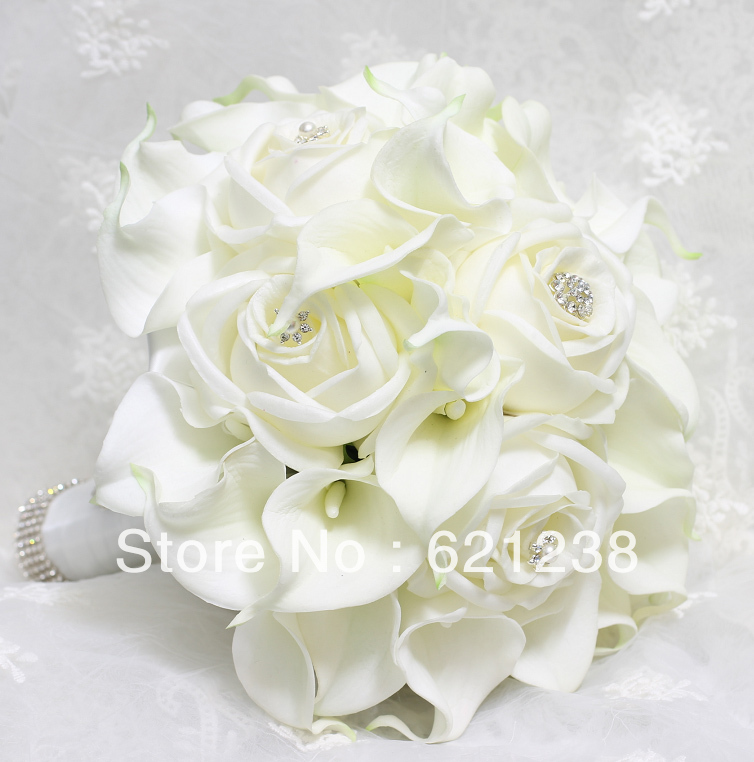 Ems Free Shipping Bride Holding White Calla Flower Calla Lily
