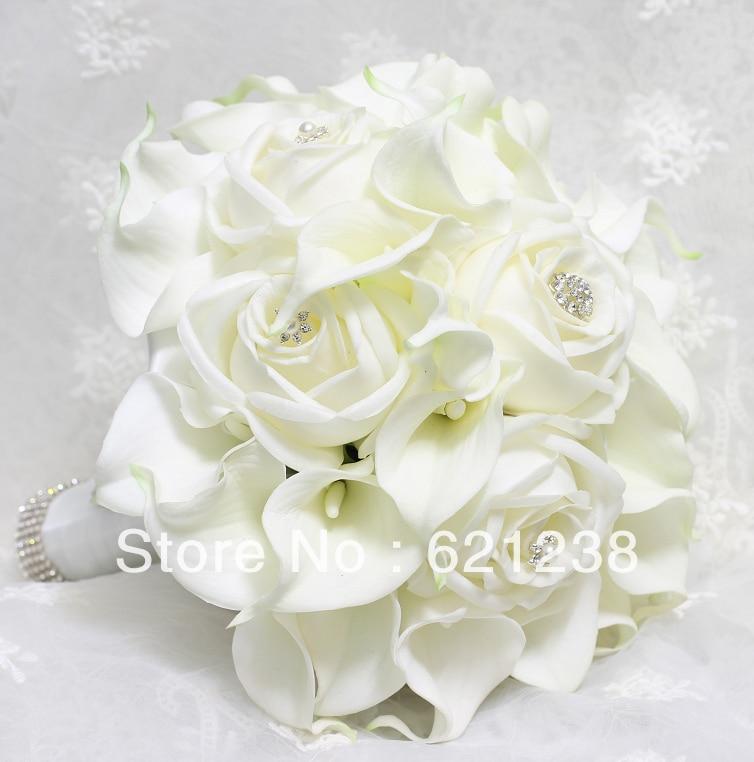 ₪Envío libre del ccsme, novia con flores de Cala blanco, boda de la ...