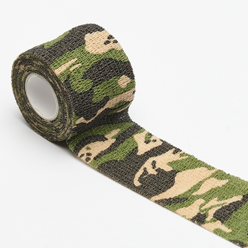 Self-adhesive Sports Fitness Elastic Bandage Waterproof Emergency Medical Treatment Gauze Tape Camouflage Elastoplast Bandage